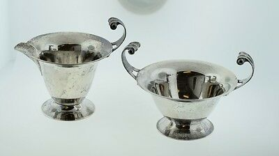 Antique Lebkuecher & Co Sterling Silver Cream & Sugar Pattern 151