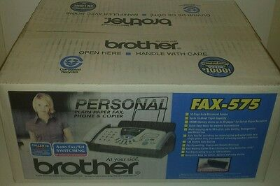 BROTHER Personal FAX-575,  Plain Paper Fax, phone & Copier, Brand New
