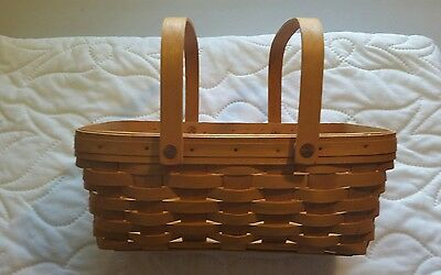 Longaberger Medium Chore Basket-Swinging Handles- Pre-Owned.