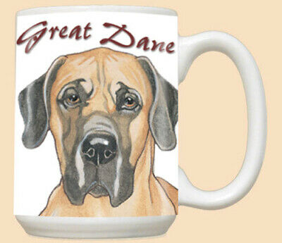 Great Dane Fawn Ceramic Coffee Mug Tea Cup 15 oz