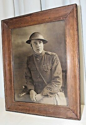WW2 Original Photograph   Large Army Corps Engineering Division Soldier Portrait