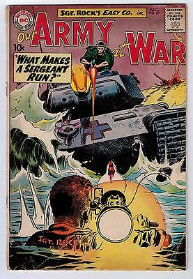 Our Army At War #97 2.0 Begin Regular Kubert Cover Art Ow Pages 1960
