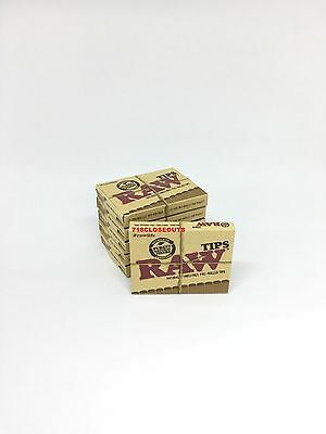 6 Boxes Raw Natural Unrefined Pre-Rolled Tips 21 Tips Per Box 126 Total