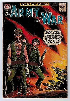 Our Army At War #100 3.0 Kubert Art Off-White Pages 1960