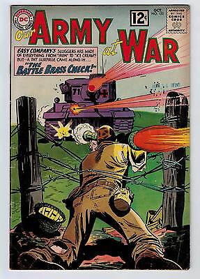 Our Army At War #123 5.0 Kubert Art Off-White Pages 1962