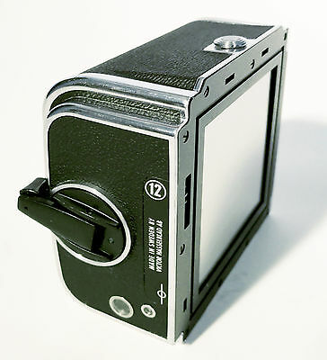 """Hasselblad A12 6x6 Film Back """"12"""" Chrome for V's – Excellent+++PRICE REDUCED!"""