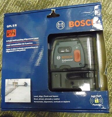 Bosch 5-Point Self Leveling Alignment Laser #gpl5R New