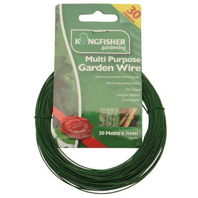 KINGFISHER 30m Multi Purpose Garden Wire 1mm Support Holder Cable