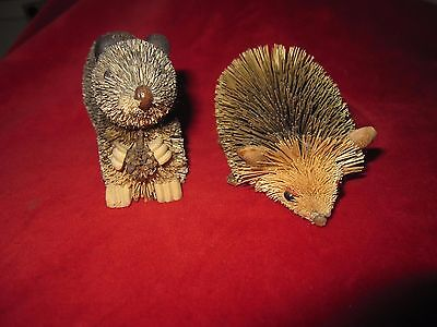 Two Pine Needle Critter's Squirrel and a baby Hedgehog