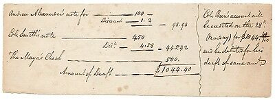 Undated Account Document for Colonel Aaron Burr [3110.07]