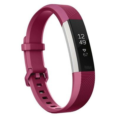 NEW Fitbit Alta HR Fitness Wristband Fuchsia, Large from Rebel Sport