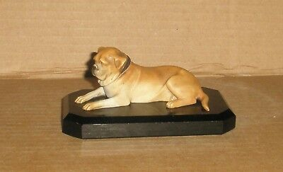 Vintage Dog Mastiff  on plinth