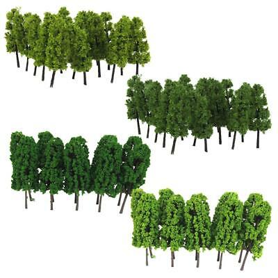 40x Model Trees for DIY Layout Train Street Garden Park Scenery 1:150 Scale