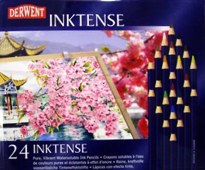 Derwent Inktense Water Vibrant Soluble Ink Pencils 24