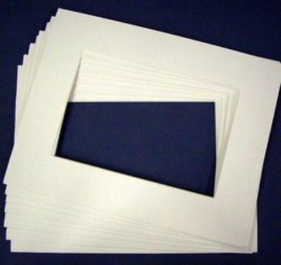 Picture Framing Mount Mats 4 x Single White Suit 8 x 12