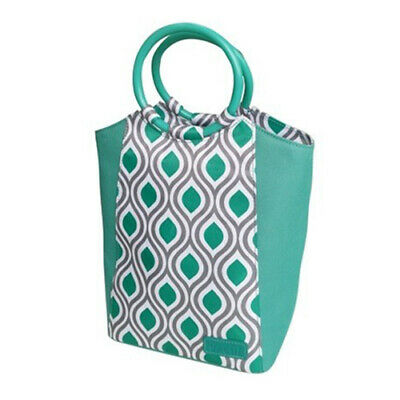 SACHI Go Fresh Insulated Lunch Tote Cooler Bag Stylish Handbag Peacock Jade!