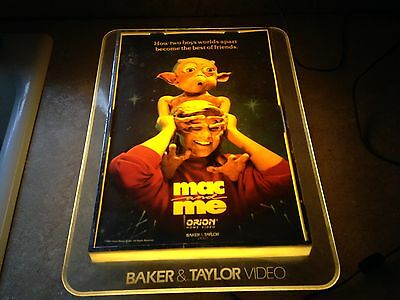 vintage Movie MAC and ME Orion Baker & Taylor Video1989 LIGHTED SIGN E.T. style
