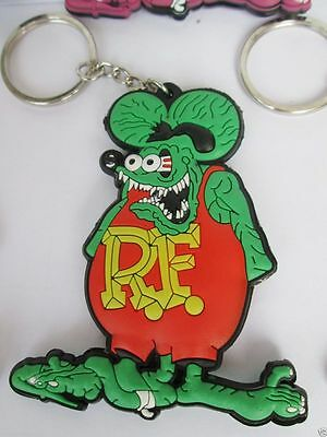 New Rat Fink Green Key Chains