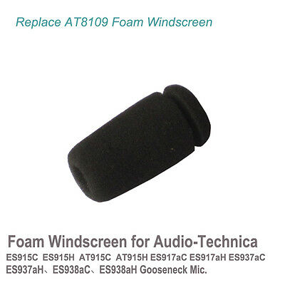 Foam Windscreen for audio-technica ES915C ES915H AT915C AT915H MIC 2x Re AT8109