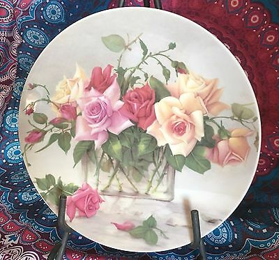 Whitcombe Collection ~ Roses Display Collector Plate ~ Estate Collectable