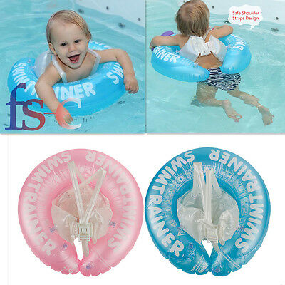 Baby Inflatable Underarm Swim Ring With Safety Shoulder Straps Swimming Trainer
