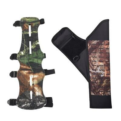 Camo Arrow Holder Quiver & Hunting Shooting 4 Straps Protect Guard Arm Guard