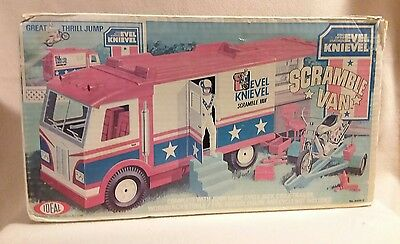 """Evel Knievel """"Scramble Van"""" by Ideal Toys 1973 Complete with Original Box"""