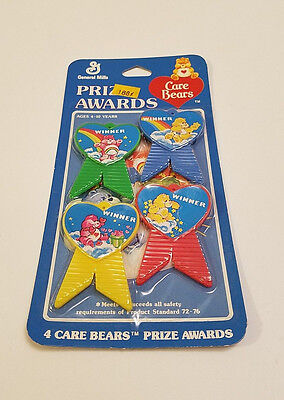 Vintage Care Bears Birthday Party Favors Prize Awards American Greetings 1983