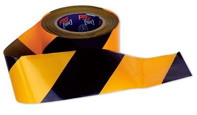 Paramount Safety Barricade Tape Yellow Black 100mX75mm