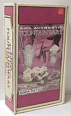 Anchor Hocking Vintage 4-Piece Authentic Fountainware Soda Set Empty Box Only