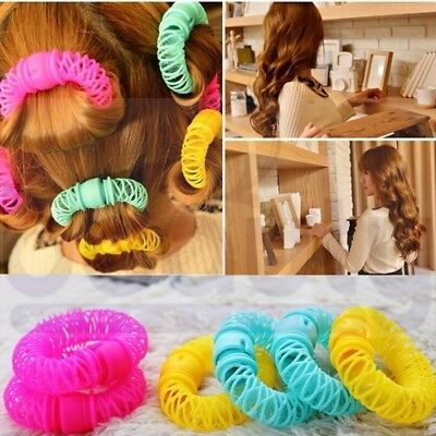 8PCS Magic Spiral Curls Tool Hairdress Bendy DIY Hair Styling Roller Curler