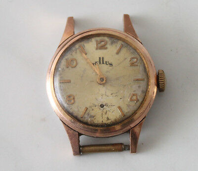 Tellus 17 jewels swiss watch women's parts/spares 22mm mechanical