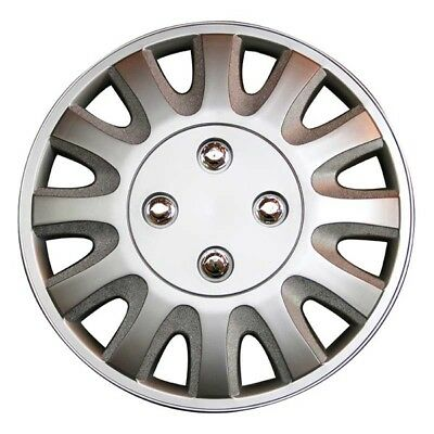 Motion 13 Inch Wheel Trim Set Silver Set of 4 Hub Caps Covers By TopTech