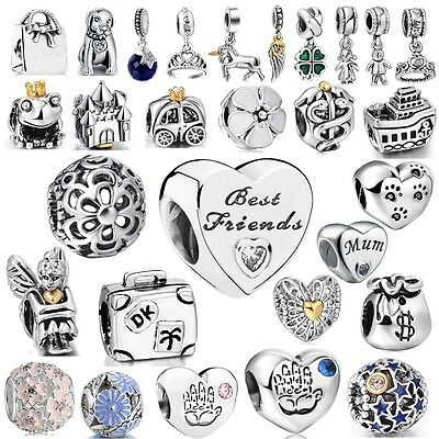 Wholesale Enamel European Beads Silver Charms For 925 Sterling Bracelet Bangle