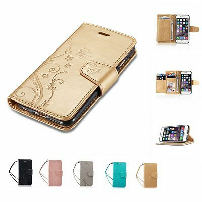 New Flip Wallet PU Leather Magnetic Stand Case Cover For Apple iPhone & Samsung