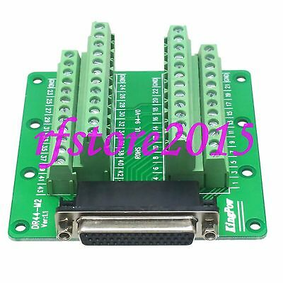 1pce Connector DB44 DR44 44 Pin D-SUB female Terminal Breakout PCB Board 3 row