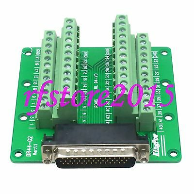 1pce Connector DB44 DR44 44 Pin D-SUB male Terminal Breakout PCB Board 3 row