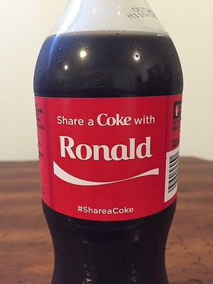 Share a COKE with Ronald 20 fl oz Collectible Bottle Rare Coca-Cola HTF 2015
