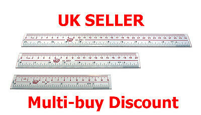 Acrylic Rule Ruler - Perspex - 15cm 20cm 30cm Metric and Imperial -UK Seller