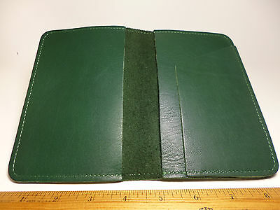 North Star Green Top Stub Leather Checkbook Cover-First Quality-Made In USA #131
