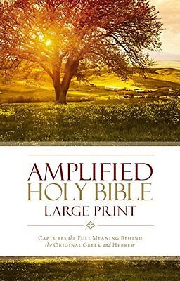 Amplified Holy Bible  Large Print  Hardcover New Hardback Book