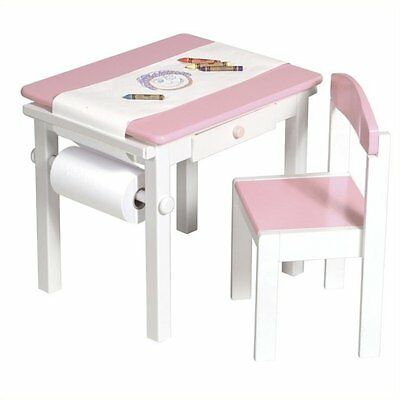 Guidecraft Pink Art Table And Chair Set
