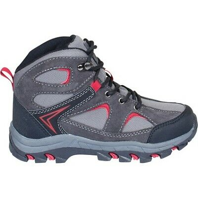 Outdoor Expedition Super Hiking Boots - Dark Grey/Red/Kids, 2