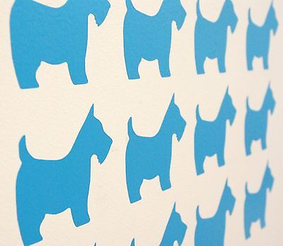 Cute Scottie Dog Vinyl Wall Art Decals/Stickers - Various Colours & Sizes
