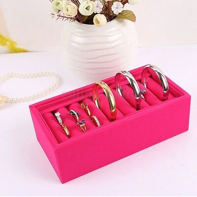 Velvet Ring Bracelet Earring Jewelry Display Organizer Box Holder Storage  Z53