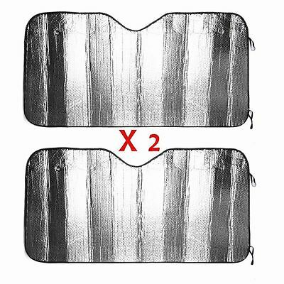 2 Pcs Auto Windshield Sun Shade Car Cover Visor Reflector Reflective Shade Large