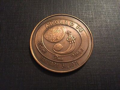 Space Exploration: Project Apollo 14 XIV January 31, 1971 Coin Medal Token