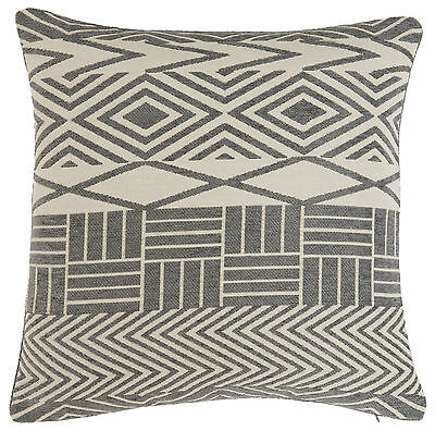 Silver Grey Abstract Luxury Cream Chenille Cushion Cover £5.95 Each Free Postage