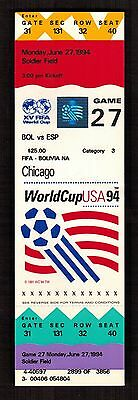 1994 FIFA WORLD CUP TICKET -- BOLIVIA vs SPAIN Soccer Football at SOLDIER FIELD