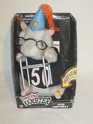"2003 Gemmy Dancing Hamster "" 50TH BIRTHDAY "" - Singing ""Birthday"" written by and"